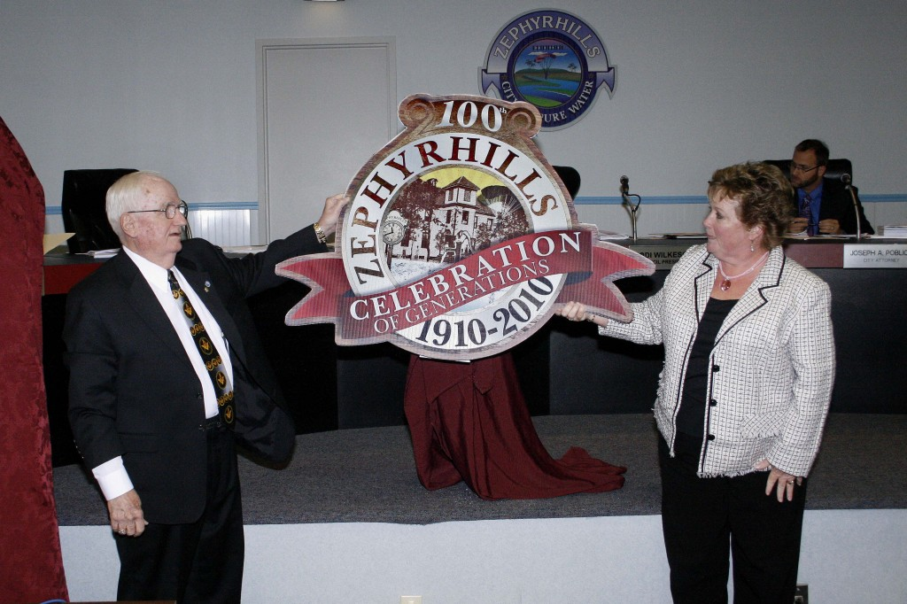Roberto Escobar of RS Media Solutions donated his time (and talent) to create the official Zephyrhills Centennial Logo