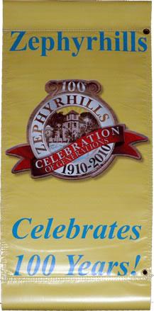 Zephyrhills Centennial Street Banners