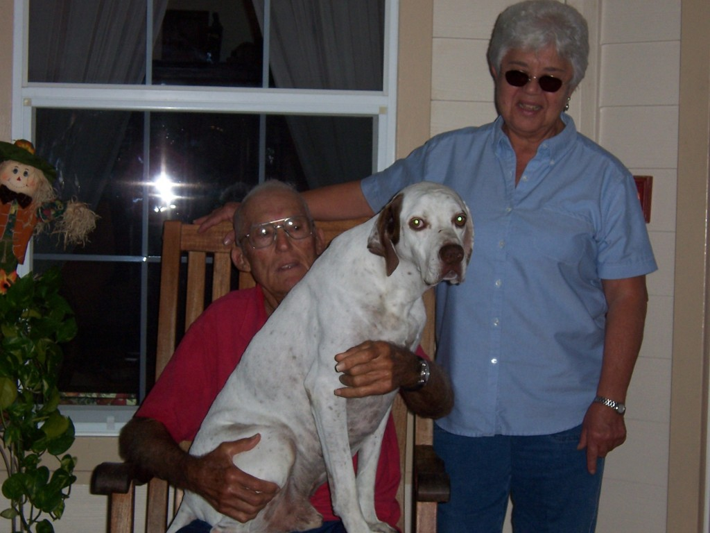 Bunt and Mary Lou Massey with their dog Jack - several folks read the article last week and wanted to see what the Massey's looked like today.