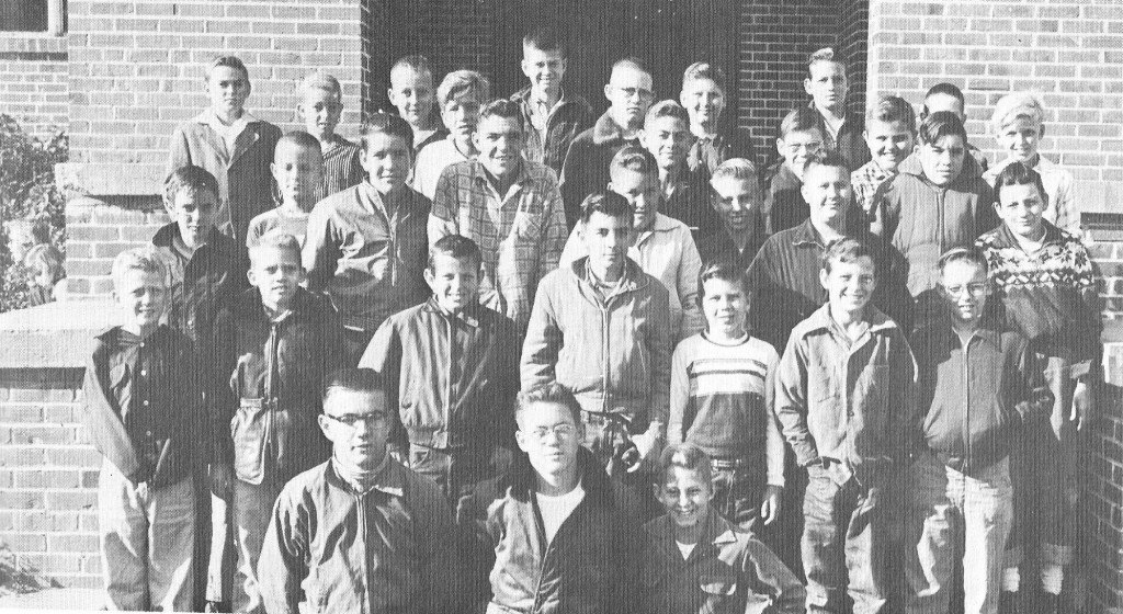1957 4-H Boy's 4-H Club at Zephyrhills High School-Fred Trebour, Robert H. Campbell, Johnny Clements; second row-Paul Pattie, Paul Carlson, James Scborila, Curtis Tucker, Tommy Ross, Charles Grantham, Kenney Bloom; third row-Fred Lott, Jack Bently, John Dickinson, Ralph Couper, James Hill, James Clark, Ronald Highsmith, Tommy Geiger, Paul Yebba; fourth row-Larry Weicht, Jerome Outlaw, Jimmy Daniels, Leslie Dixon, Billy Coolidge, Charles Petty, Ronald Humphries, Marion Amerson, Tom McQuaddy, James Bohanan, Eddie Johnston, Leon Wilson. Photo from ZHS.