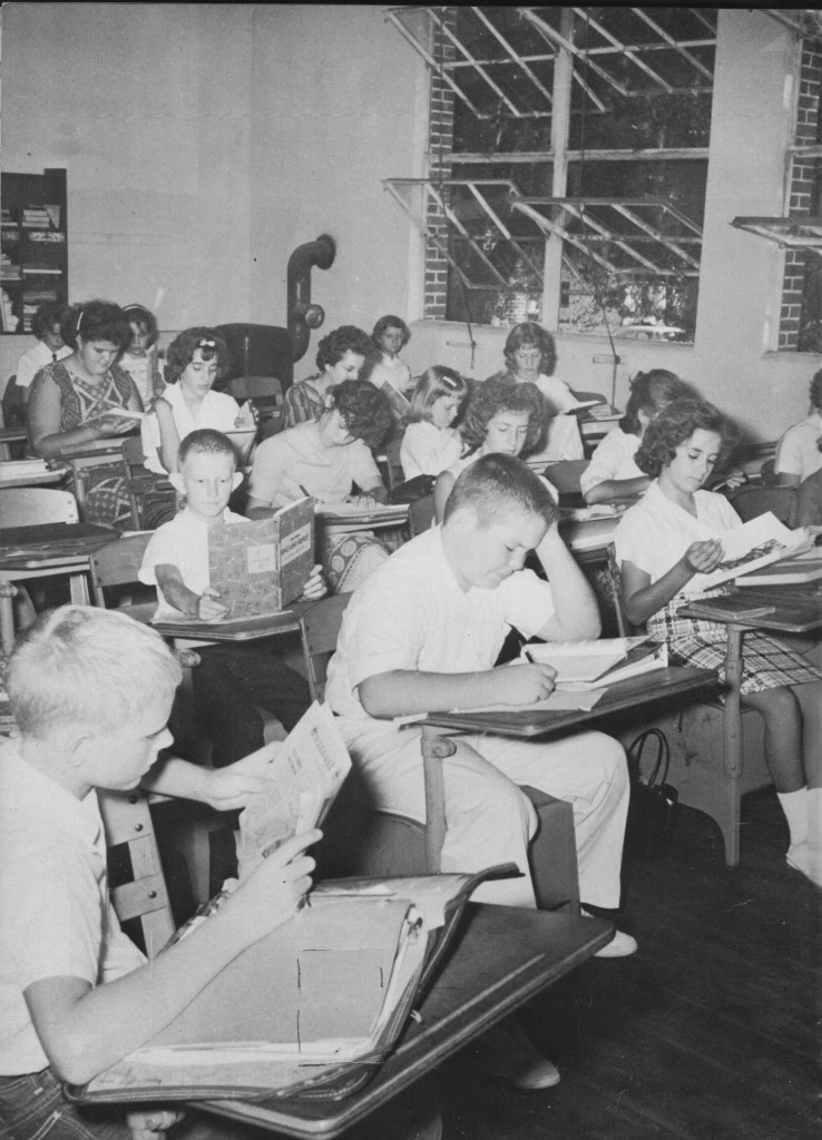 A grade school classroom in 1962
