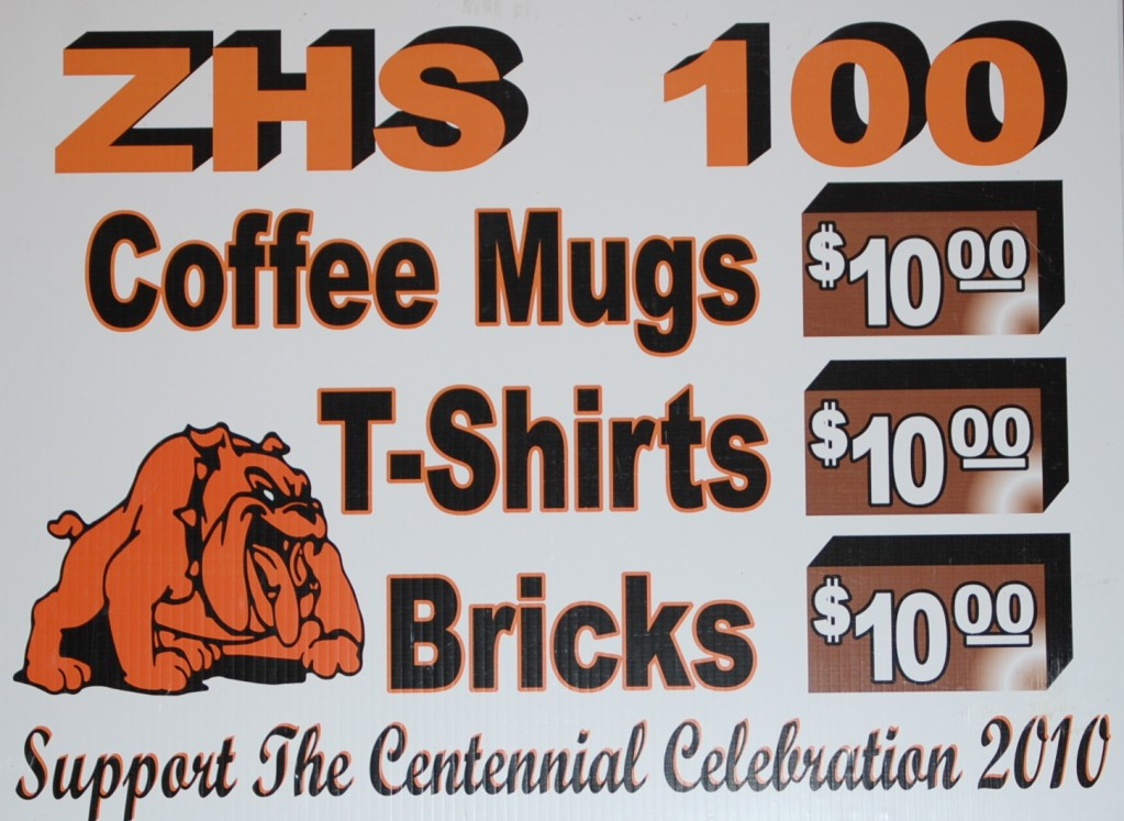 ZHS 100 Promo Items Display Board