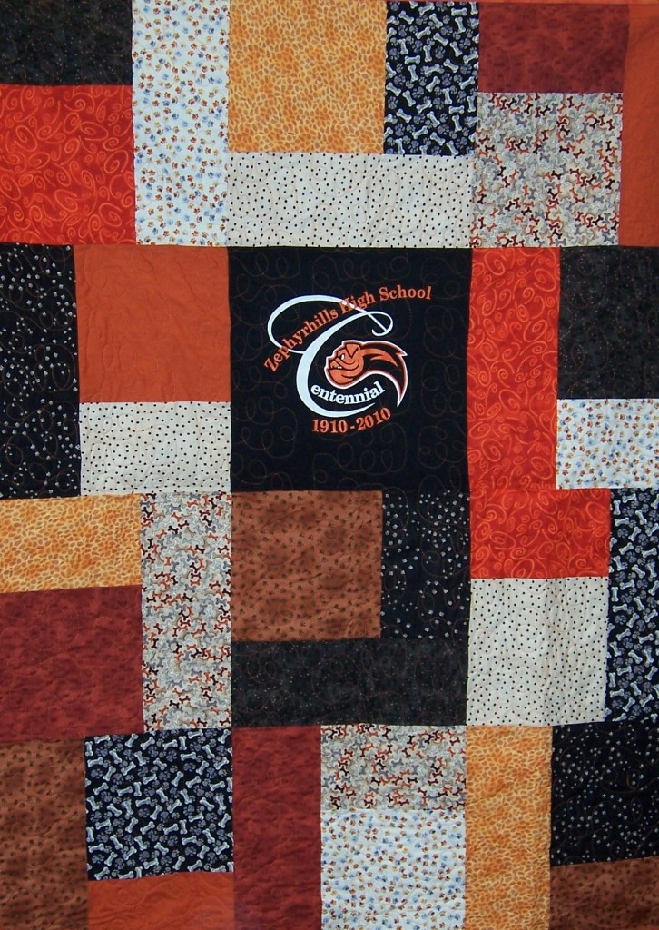 ZHS Centennial Quilt (black center)