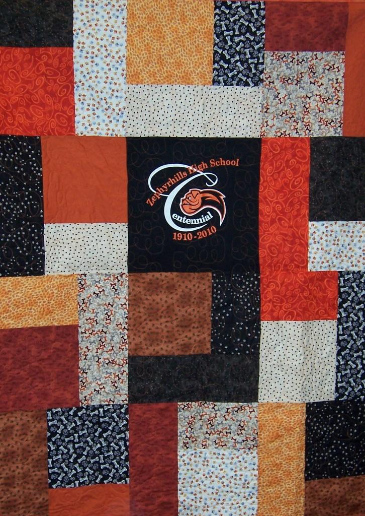 ZHS Centennial Quilt (black center)