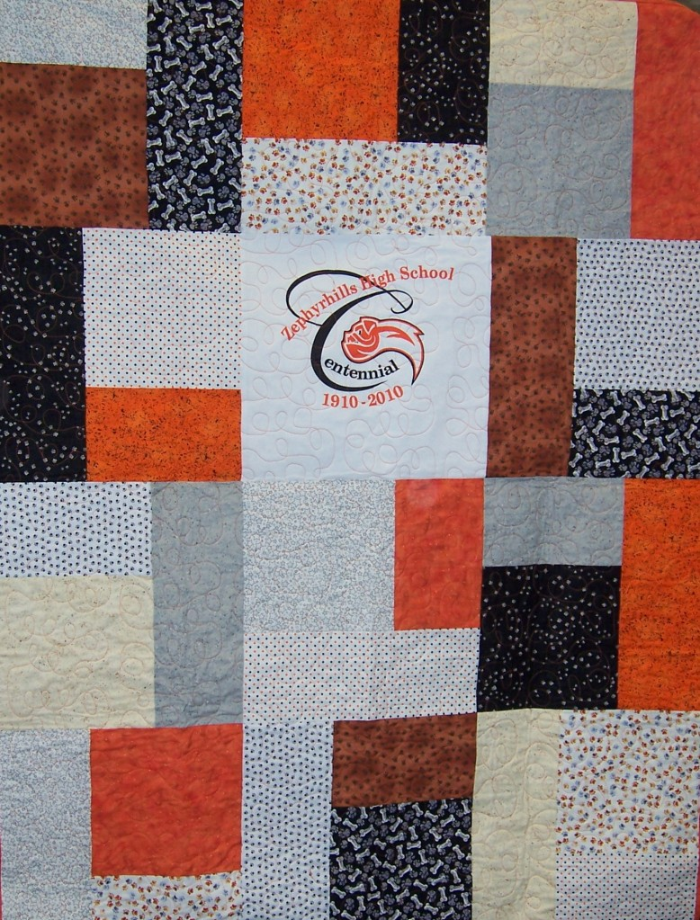 ZHS Centennial Quilt (white center)